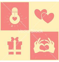 Vintage Valentines day vector by elfivetrov on VectorStock®