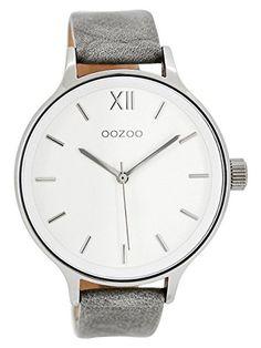 Oozoo XL Damen-Armbanduhr Weiß/Grau C7891