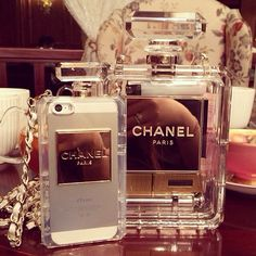 Chanel perfume phone case look at the phoneee