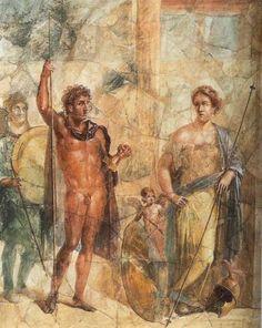 Matrimonio di Alessandro e Statira nelle vesti di Ares e Afrodite - Pompei