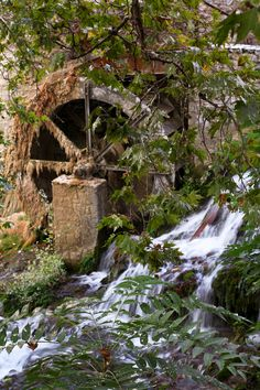 An old watermill located in Krya Vrisi, Livadia