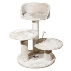 "Majestic Pet Products Casita Faux Fur Cat Tree - Honey (27"")"