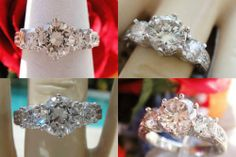 1.52Ct Round Brilli Diamond Pave Engagement Ring Certified/Appraised