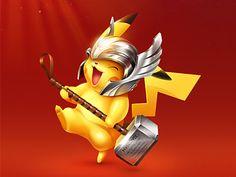 Happy New Year xiaoxian ui icon hammer pikachu thor Pikachu Drawing, Pikachu Art, Cute Pokemon, Photo Pokémon, Deadpool Pikachu, Super Anime, Nerd Love, Cute Cartoon Wallpapers, Pokemon Pictures