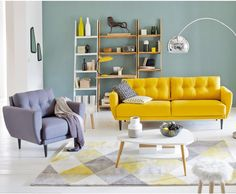 Photo Deco : Salon Gris Collection La Redoute Interieurs avril 2015