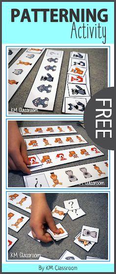 FREE Woodland Animal Patterning Activity