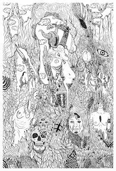 #drawing #ink #nudes #prints #landscape #lines