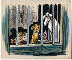 Joe Rinaldi storyboard art for Disney's Lady and the Tramp Animation Storyboard, Disney Animation, Animation Film, Disneyland, Disney Dogs, Disney Concept Art, Lady And The Tramp, Disney Wallpaper, Disney Drawings