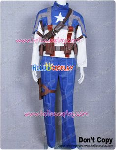 Captain America Steve Rogers Jacket Pants With Brown Bags And Belts