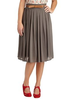 Porch Swing Dance Skirt in Grey, #ModCloth