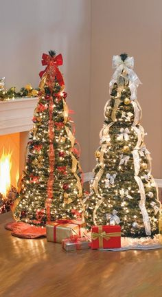 2013 prelit christmas trees, 2013 Best Prelit Artificial Christmas Tree, Red and White Ribbon decor on Christmas tree