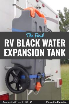 How to expand an RV black water tank when boondocking with a portable waste tank. Tips to fill and empty a black water expansion tank. 5th Wheel Travel Trailers, Small Travel Trailers, Rv Travel, Rv Trailers, Adventure Travel, Van Life Blog, Rv Life, Diy Van Conversions, Small Rv