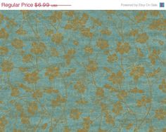 ON SALE Distressed Peacock Blue Wallpaper with Scrolling Flowers in Metallic Gold - Cream, Crackle, Teal, Aqua, Faux Texture - By The Yard - on Etsy, $6.29