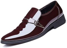 Men Dress Shoes Fashion Business Shoes Slip On Split Leather Pointed Toe Sneakers Men Business Wedding Oxfords Mens Casual Leather Shoes, Leather Dress Shoes, Black Leather Shoes, Leather Men, Patent Leather, Casual Shoes, Mens Business Dress, Business Shoes, British Style Men