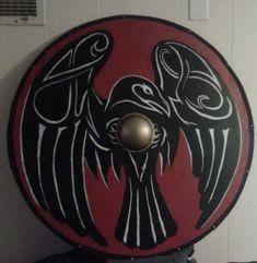 Raven shield, facing