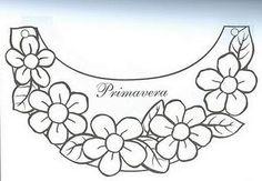 Muitos moldes e modelos de viseiras e óculos de primavera, de flores! Hand Embroidery Design Patterns, Embroidery On Clothes, Embroidery Flowers Pattern, Hand Embroidery Stitches, Embroidery Applique, Beaded Embroidery, Mexican Embroidery, Vintage Embroidery, Brazilian Embroidery