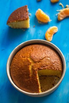 Eggless and Butterless Orange Sponge Cake Recipe