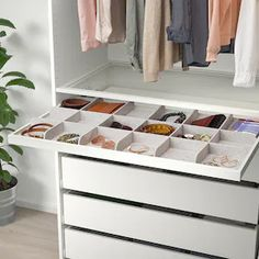 """KOMPLEMENT Divider for pull-out tray, light gray, 393/8x227/8"""" - IKEA Storage One, Ikea Storage, Drawer Mat, Drawer Fronts, Ikea Komplement, Armoire Ikea, Closet Island, Ikea Family, Pax Wardrobe"""