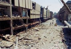 Aftermath of IRA bombing Manchester Arndale Center, June 15th 1996.