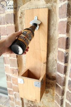 DIY Bottle Opener: Assemble this unique and practical bottle opener for dad, which is the perfect addition to any man cave. Click through to find more Father's Day DIY craft ideas that Dad will love to get from kids and adults.