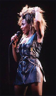 Singer Tina Turner performs live on stage
