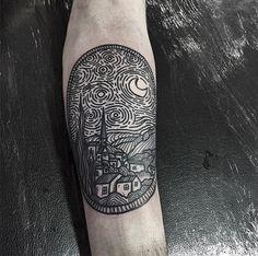 #tattoofriday - tatuagens em hachura por Kolahari;
