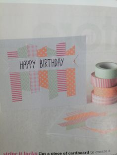 Washi tape cards Masking TapeHomemade CardsCardmakingBirthday from handmade birthday card ideas, source:Washi tape cards Idea Scrapbook Paper Crafts, Scrapbook Cards, Scrapbooking, Handmade Birthday Cards, Happy Birthday Cards, Diy Birthday, Birthday Gifts, Cute Cards, Diy Cards