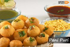If there is one common street food loved by a billion people all over India, it is this. #Panipuri aka #GolGappa is a popular street snack from the Magadha region of India. It consists of a round, hollow puri, fried crisp and filled with a mixture of flavored water, tamarind chutney, chili, chaat masala, potato, onion and chickpeas.