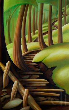 First Steps by Dana Irving Canadian Painters, Canadian Artists, Landscape Art, Landscape Paintings, Landscapes, Art Courses, Environmental Art, Tree Art, Abstract Art