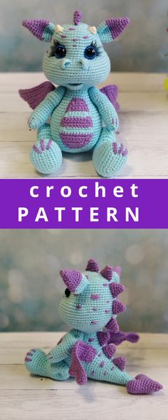 The full crochet pattern consists of 20 pages of the detailed, step-by-step description in the pdf format. It contains more than 50 high-quality photos. The size of finished toy is – 20 cm inc) Crochet PATTERN Dragon. Crochet Amigurumi Free Patterns, Crochet Toys, Crochet Baby, Free Crochet, Crotchet, Crochet Doll Tutorial, Gifts For Newborn Boy, Dragon Pattern, Handmade Toys