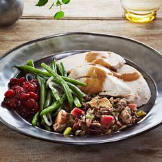 Sage-Rubbed Roast Turkey with Lemon-Bay Gravy