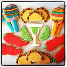 Wicked, cool, sugar cookie website Oh Sugar Events: Cinco de Mayo Cookies