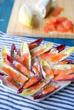 Smoked Salmon Goat Cheese Endive Bites