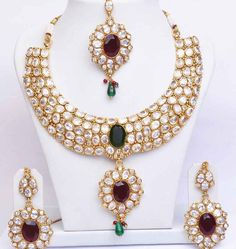 Stone Studded Wedding Necklace Design