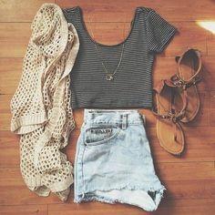 Casual Outift flip flops  shorts  †††♥ †♥ †♥