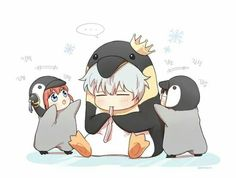 Gintoki | Chibi Gintama, Kagura, and Shinpachi