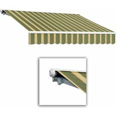 Galveston-LX Semi-Cassette Manual Retractable Awning, Beige