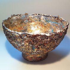 papier mache bowl by Hilary Bravo