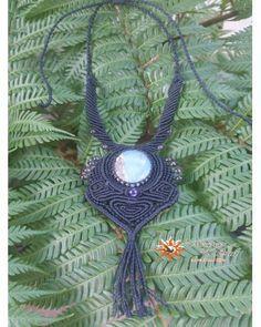 Peruvian Opal Scorpion Macrame Necklace