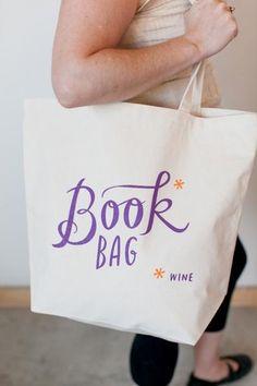 Book* (Wine) Tote Ba