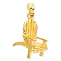 14k Adirondack Beach Chair Pendant C3390