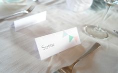 Baby shower or christening place cards