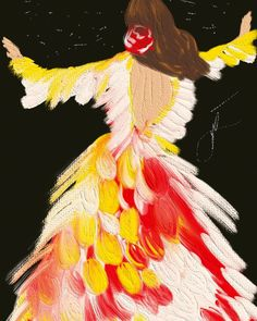 Movement ❤️#flamenco Thanks for inspiring @larosalia.vf. Disney Characters, Fictional Characters, Thankful, Disney Princess, Painting, Inspiration, Flamingo, Art, Biblical Inspiration