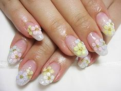 Pretty nail art for spring or Easter