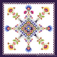 Floral pattern folk by Bridzia, via Dreamstime