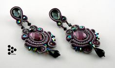 SALE. Soutache earrings Queen of the evening par DalikaHandMade