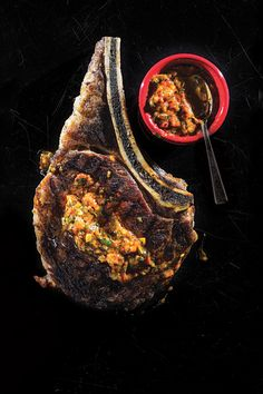 Grilled Rib Eye with Sweet-Hot Pepper Sauce Recipe - Saveur.com