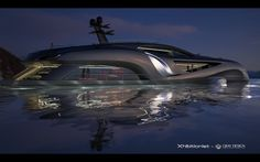 Xhibitionist luxury super-yacht by Gray Design, designed with the flowing lines of an Art Nouveau masterpiece and automotive styling. Images © Gray Design The… Super Yachts, Vacation Meme, Travel Humor, Luxury Wallpaper, Yacht Boat, Pontoon Boat, Boat Design, Yacht Design, Motor Yacht