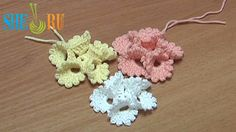 Crochet Folded Petal Flower With Picots Tutorial 13 (+playlist)