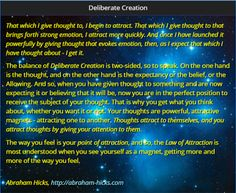Deliberate Creation - Abraham Hicks